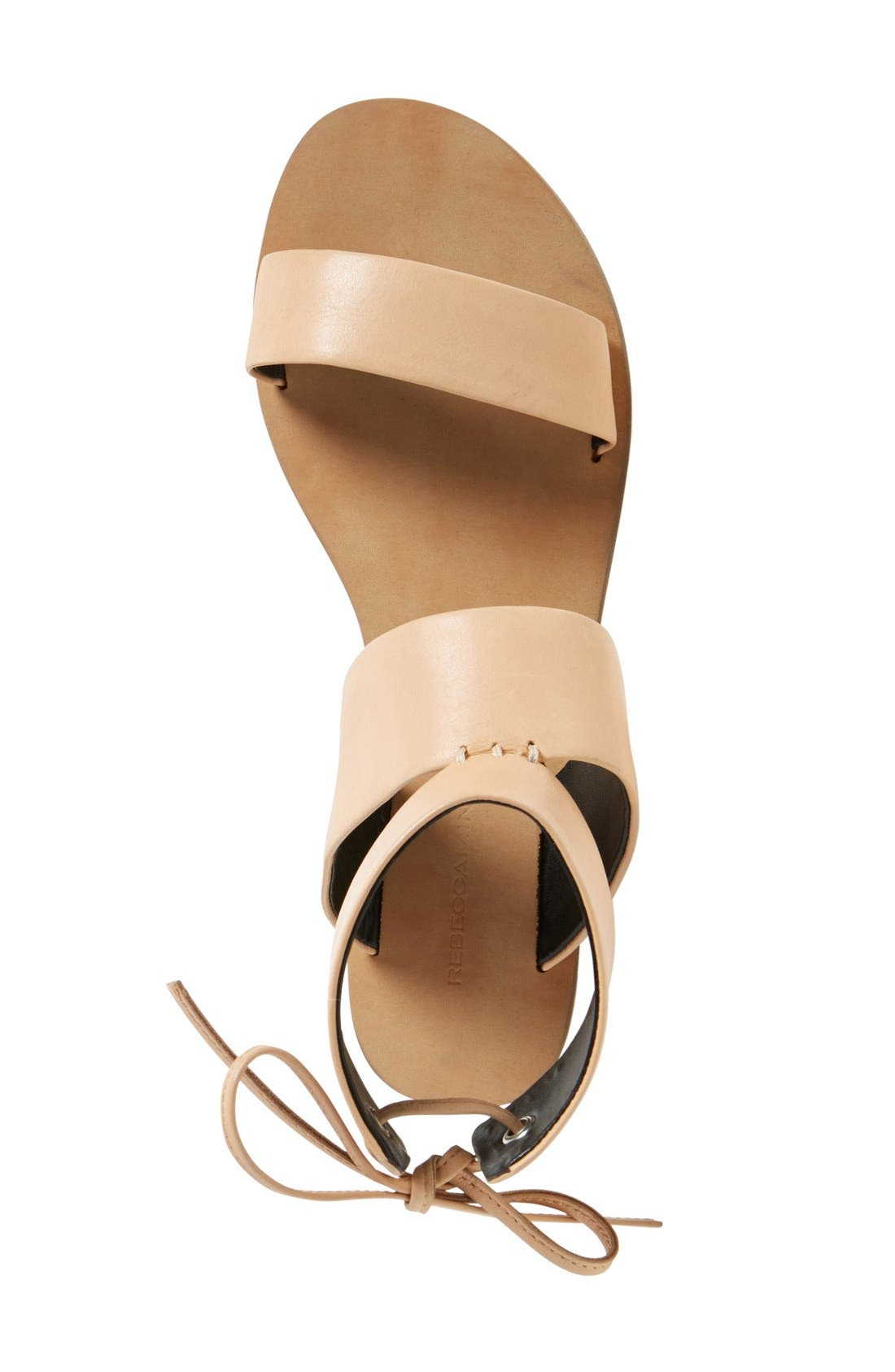 'Emma' Ankle Cuff Sandal,                             Alternate thumbnail 3, color,                             Nude Vachetta