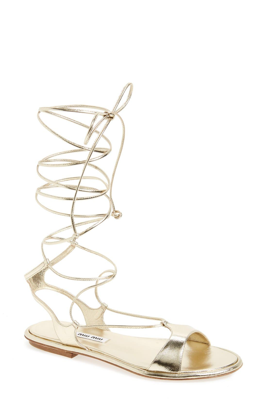 Alternate Image 1 Selected - Miu Miu Gladiator Sandal (Women)