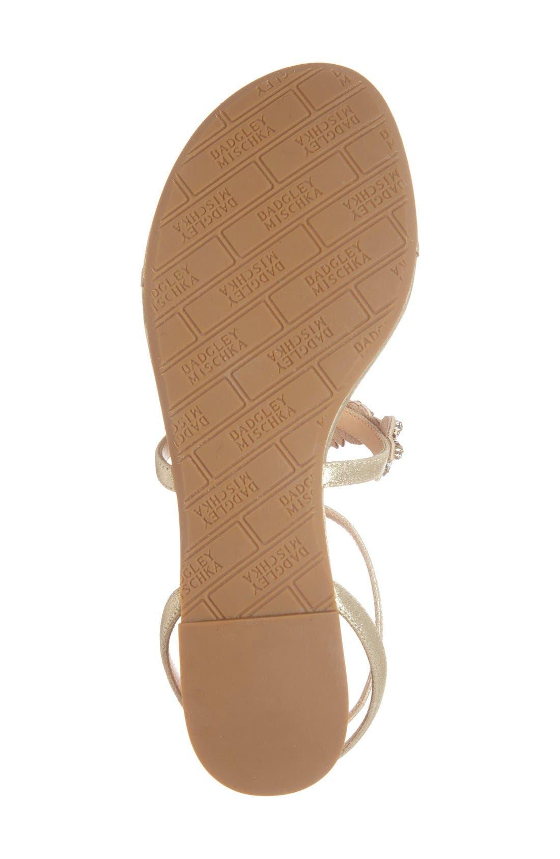 Alternate Image 4  - Badgley Mischka 'Cara' Crystal Embellished Flat Sandal (Women)