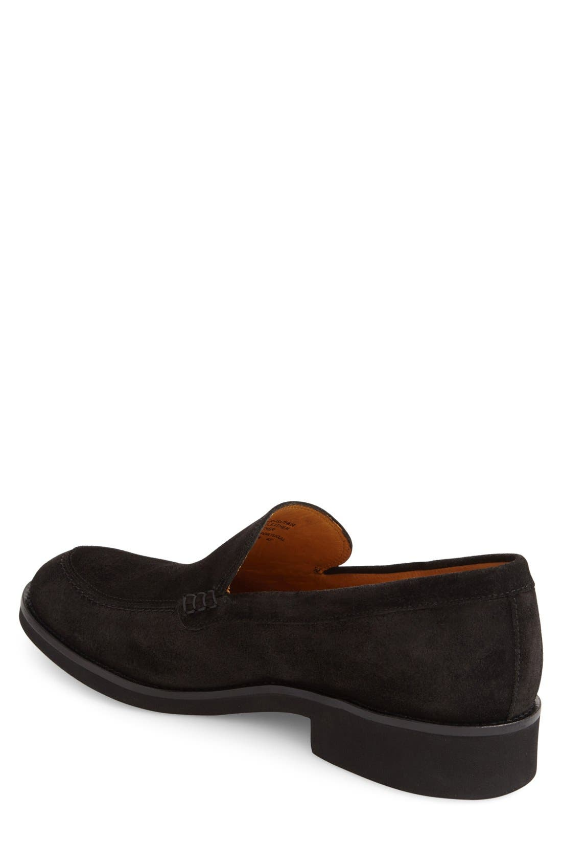 'Arleigh' Loafer,                             Alternate thumbnail 3, color,                             Black Suede