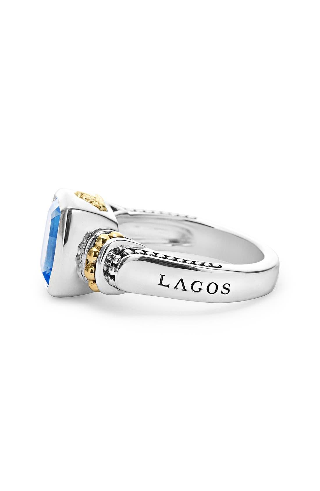 Alternate Image 4  - LAGOS 'Caviar Color' Small Semiprecious Stone Ring