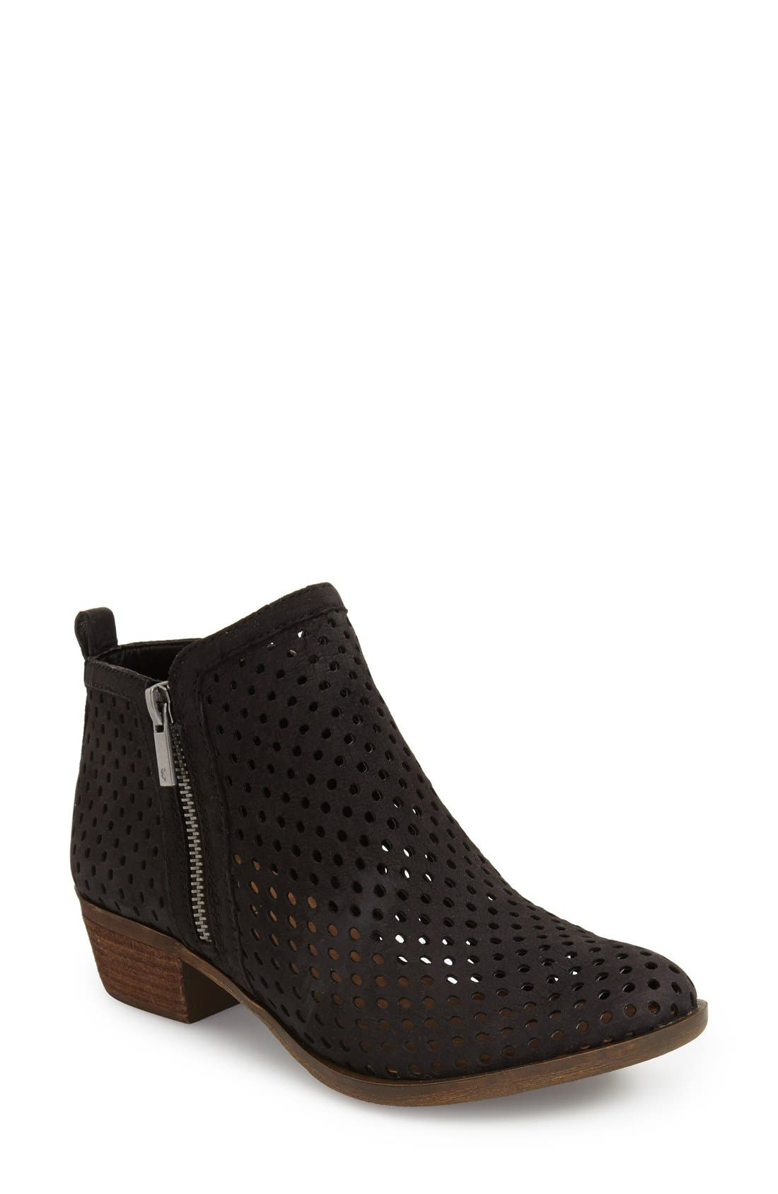 Main Image - Lucky Brand 'Basel' Perforated Bootie (Women)