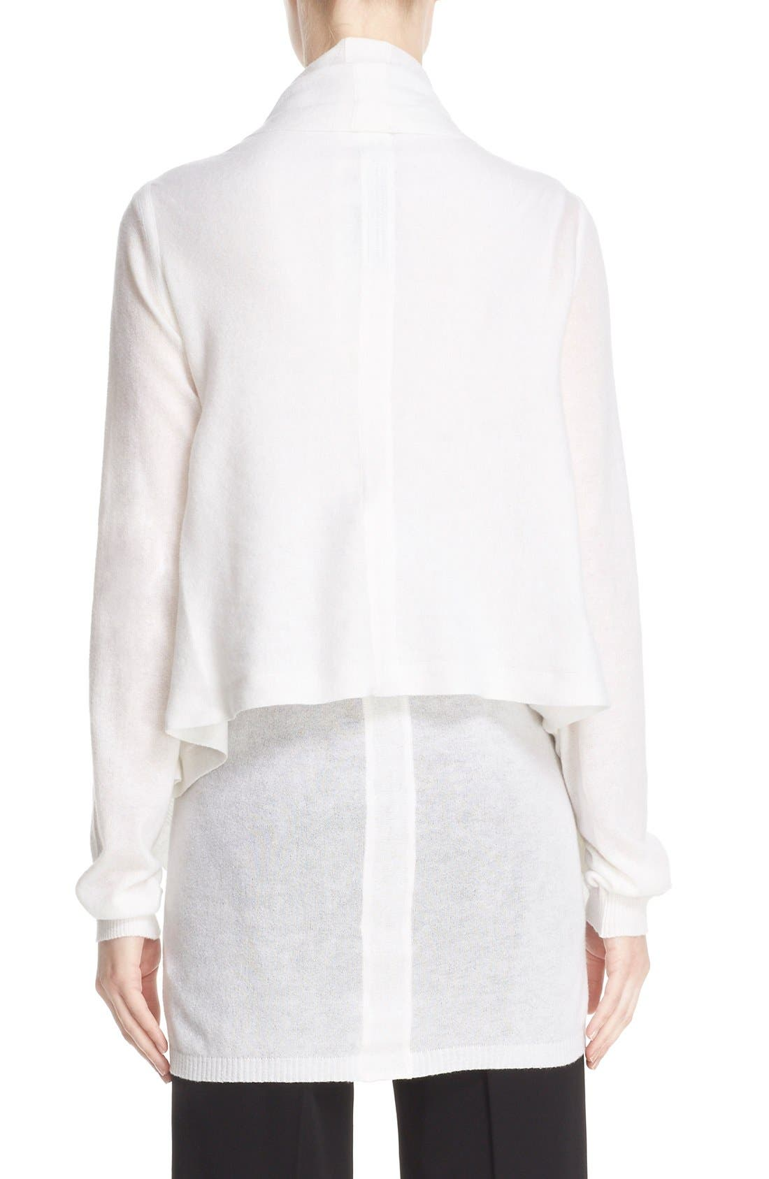 Alternate Image 2  - Rick Owens Drape Front Cotton & Cashmere Cardigan