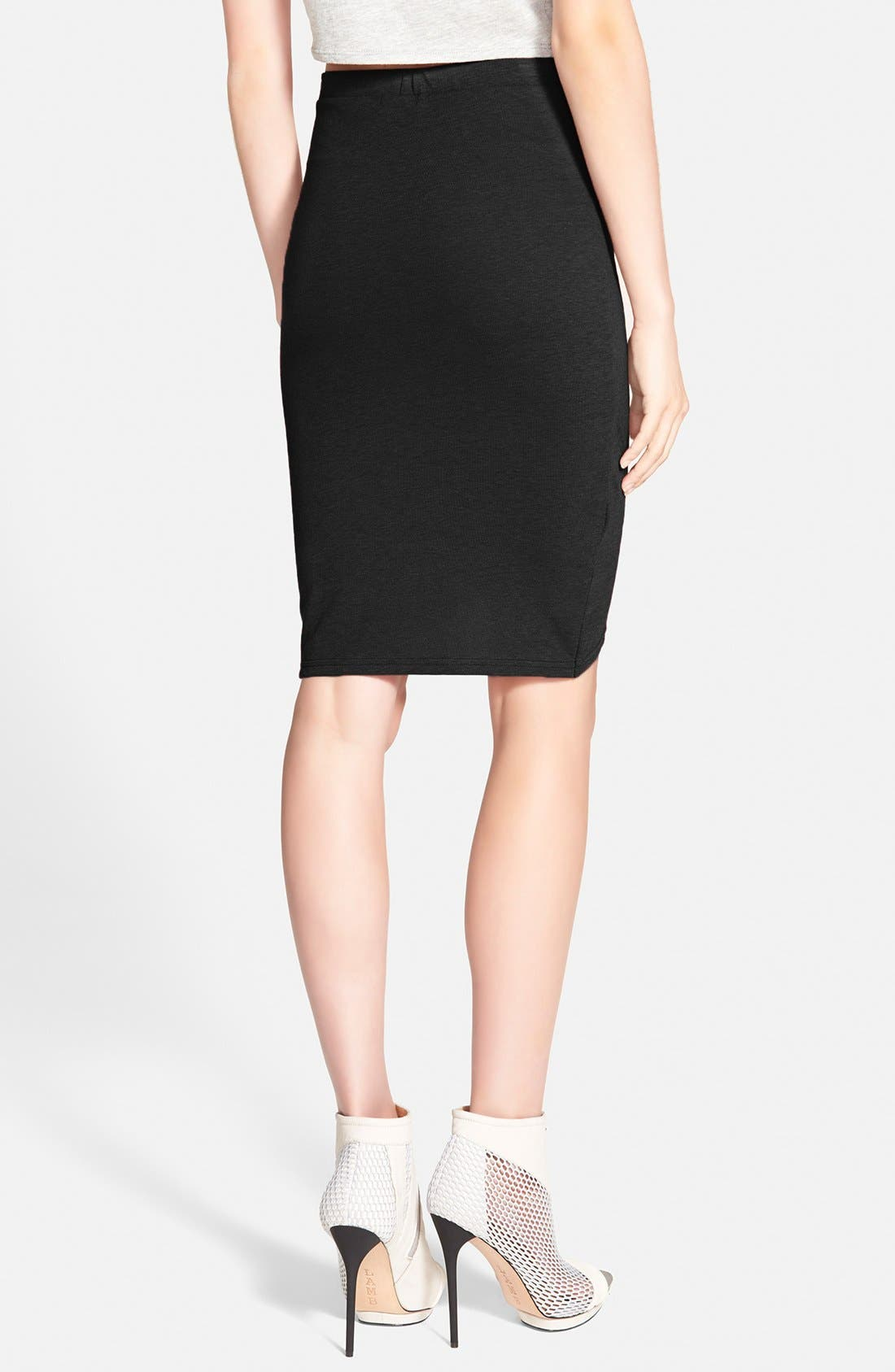 Alternate Image 2  - Leith Ruched Body Con Skirt