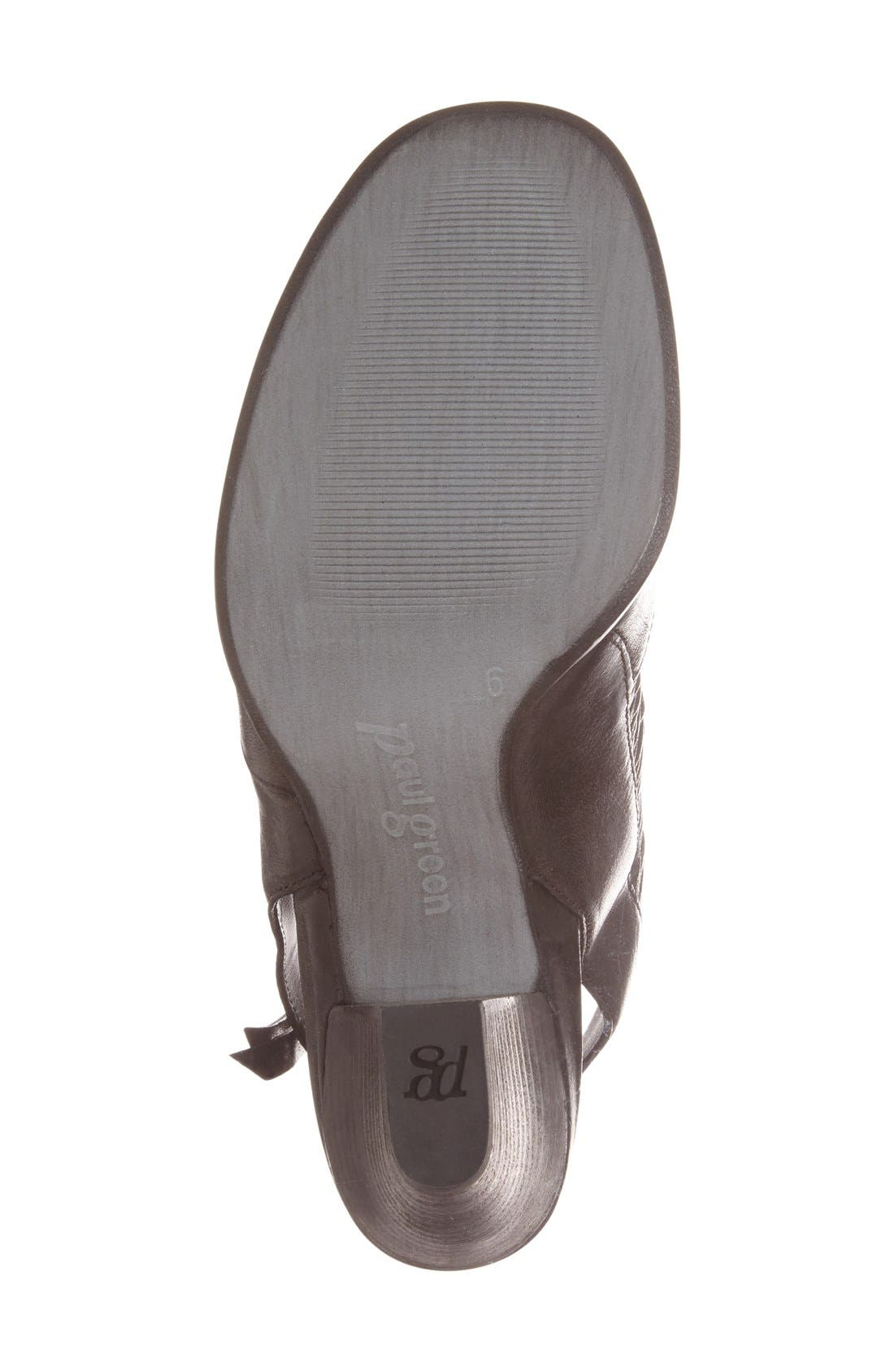 'Willow' Peep Toe Sandal,                             Alternate thumbnail 5, color,                             Black Leather