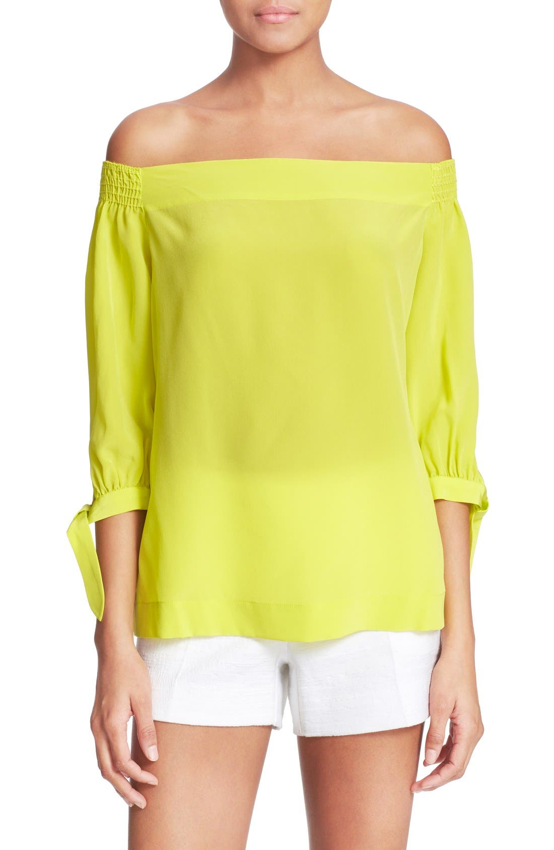 Alternate Image 1 Selected - Trina Turk 'Kandis' Off the Shoulder Silk Top