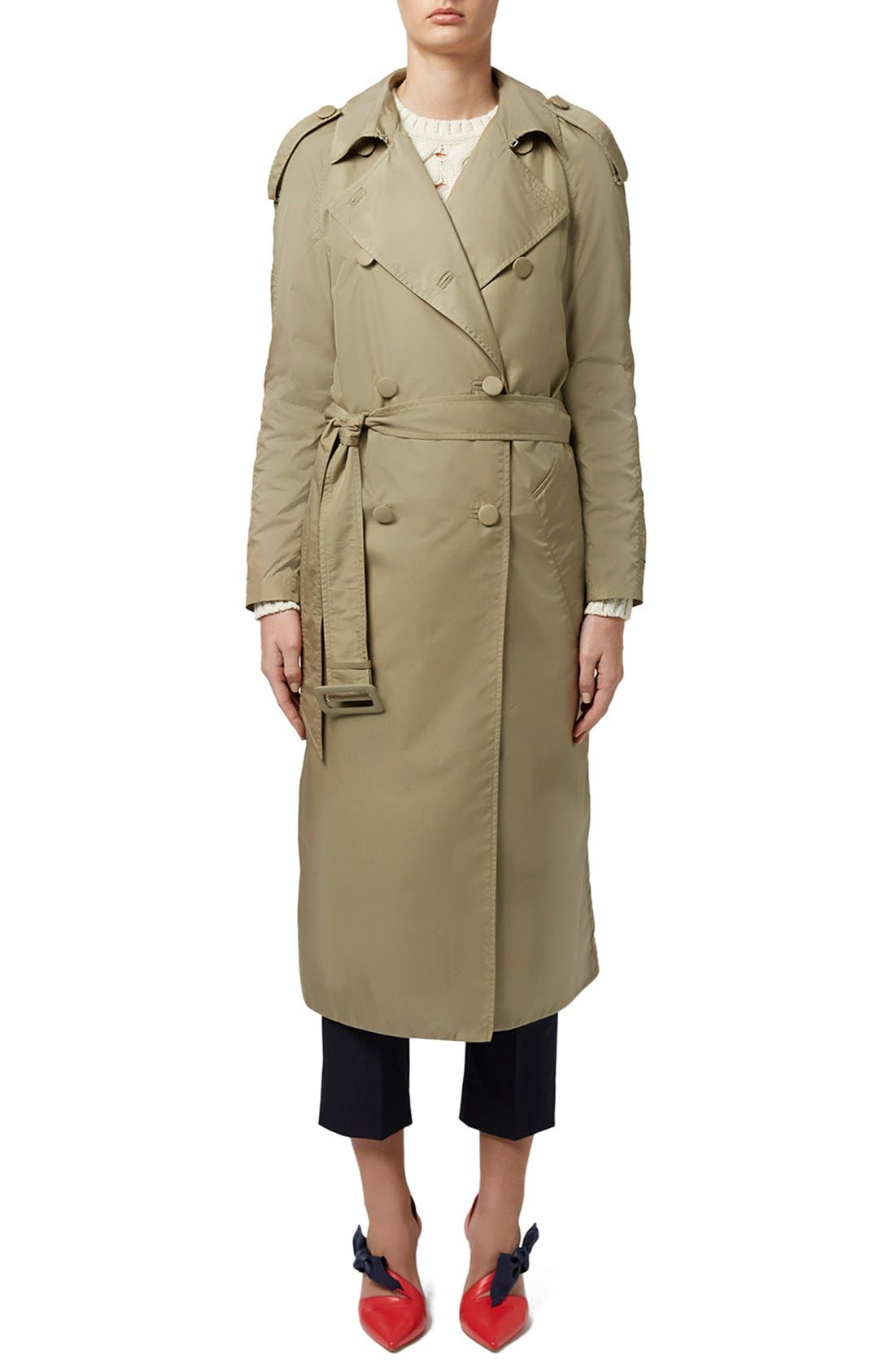 Main Image - Topshop Unique 'Great Smith' Double Breasted Trench Coat