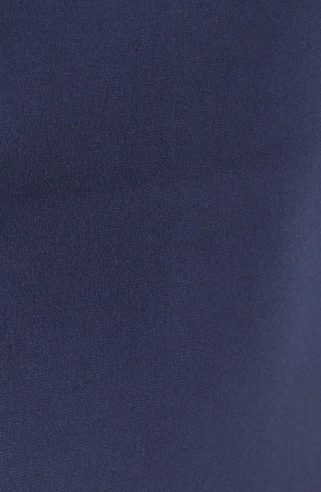 Alternate Image 5  - La Femme Embellished Illusion Jersey Gown