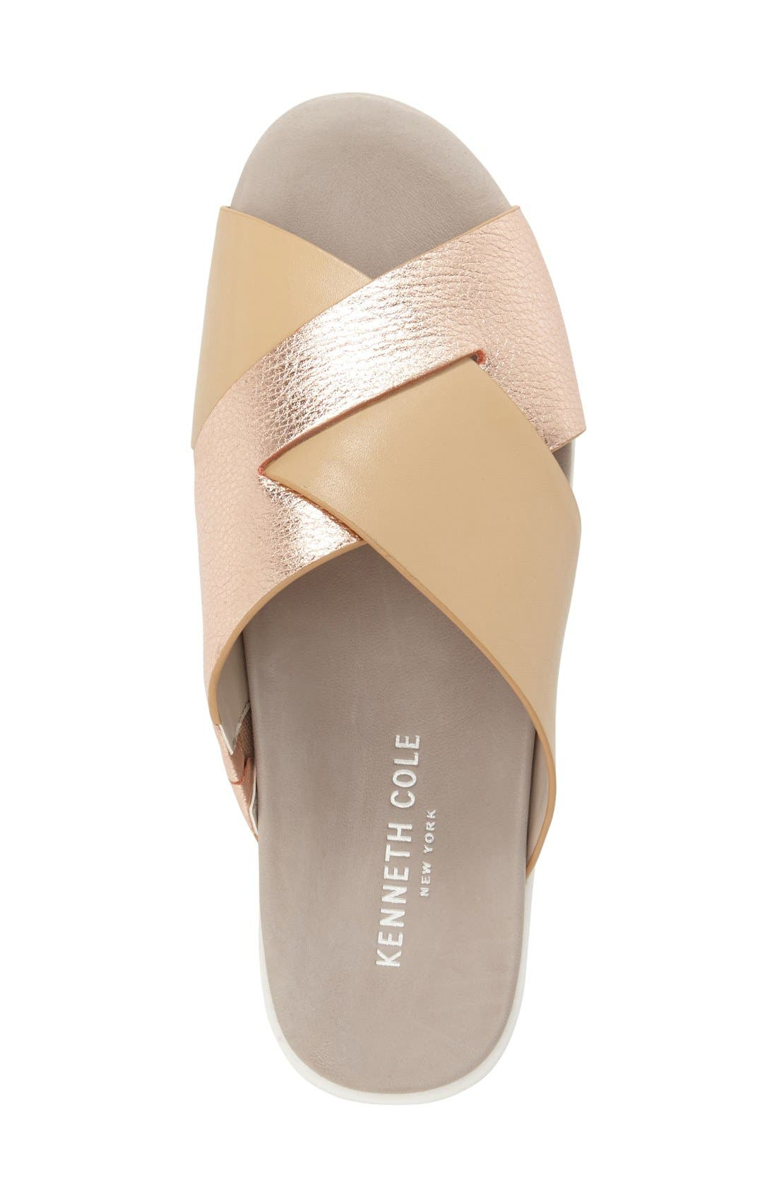 'Maxwell' Sandal,                             Alternate thumbnail 3, color,                             Rose Gold/ Nude Leather