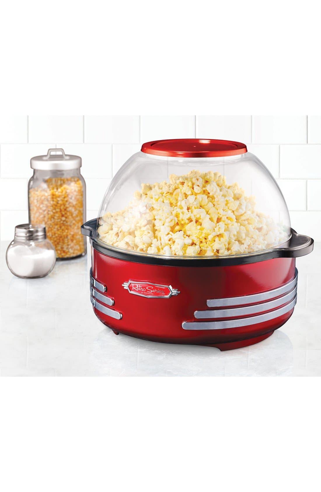 Nostalgia Electronics Retro Stirring Popcorn Maker,                             Alternate thumbnail 2, color,                             Red