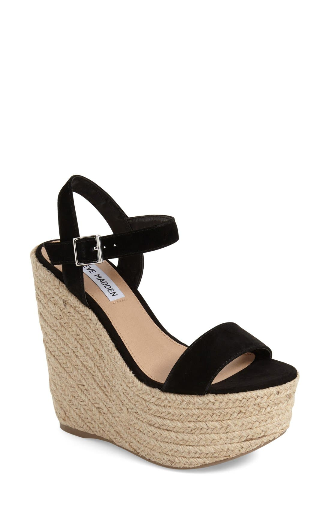 Alternate Image 1 Selected - Steve Madden 'Alyssa' Espadrille Wedge Sandal (Women)