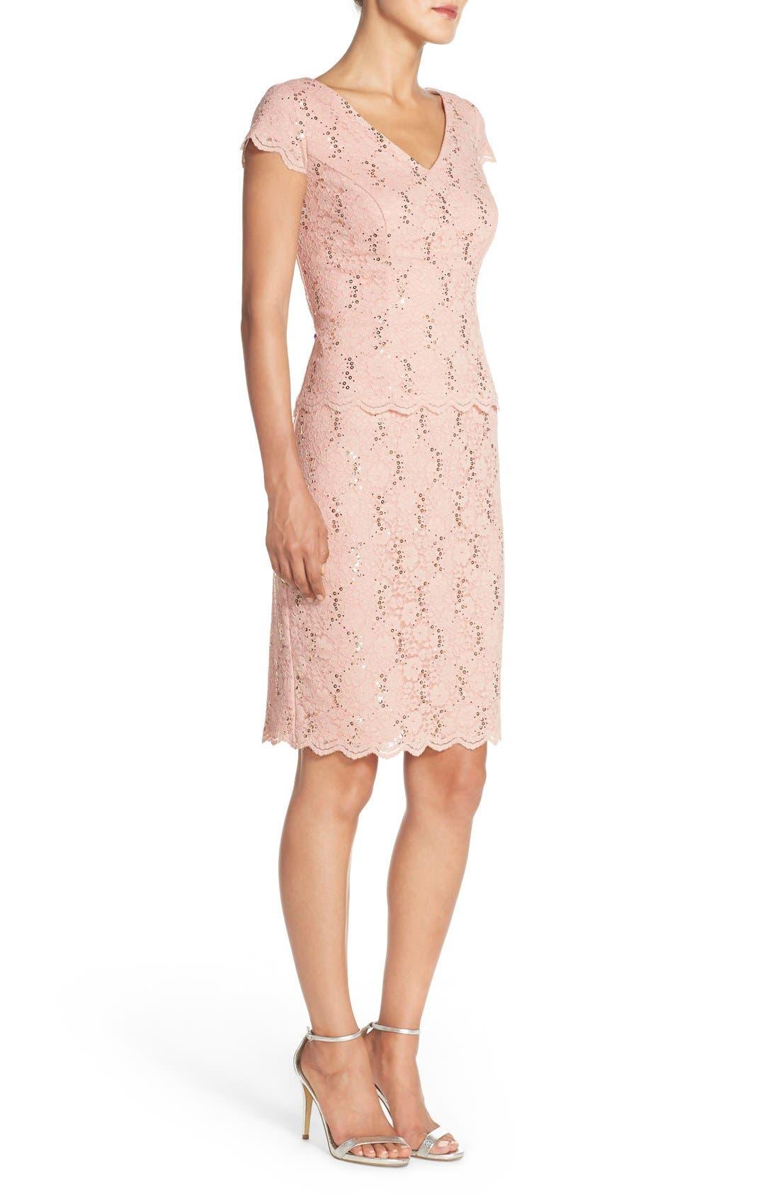Alternate Image 3  - Alex Evenings Embellished Lace Sheath Dress