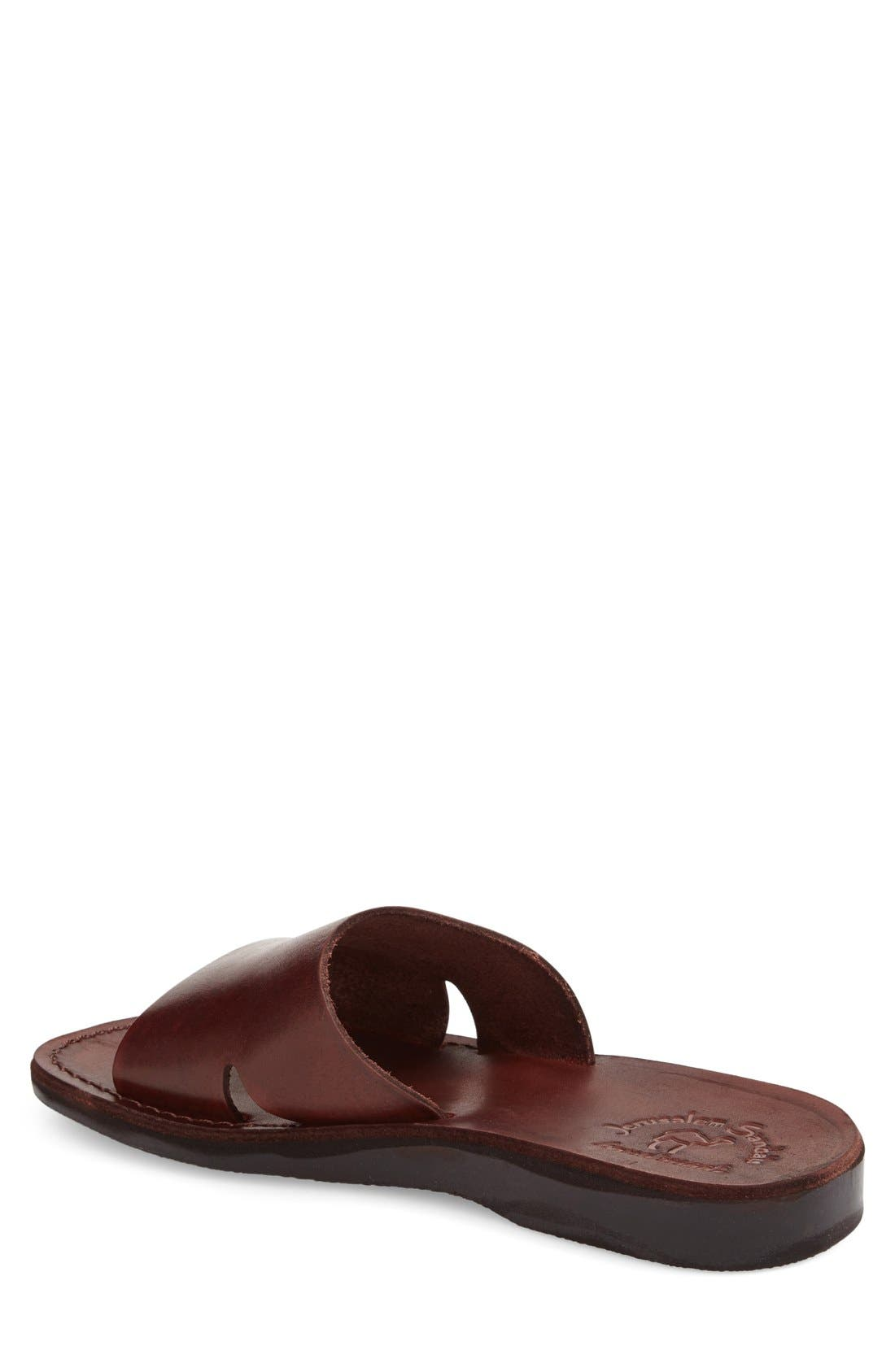 'Bashan' Sandal,                             Alternate thumbnail 2, color,                             Brown Leather