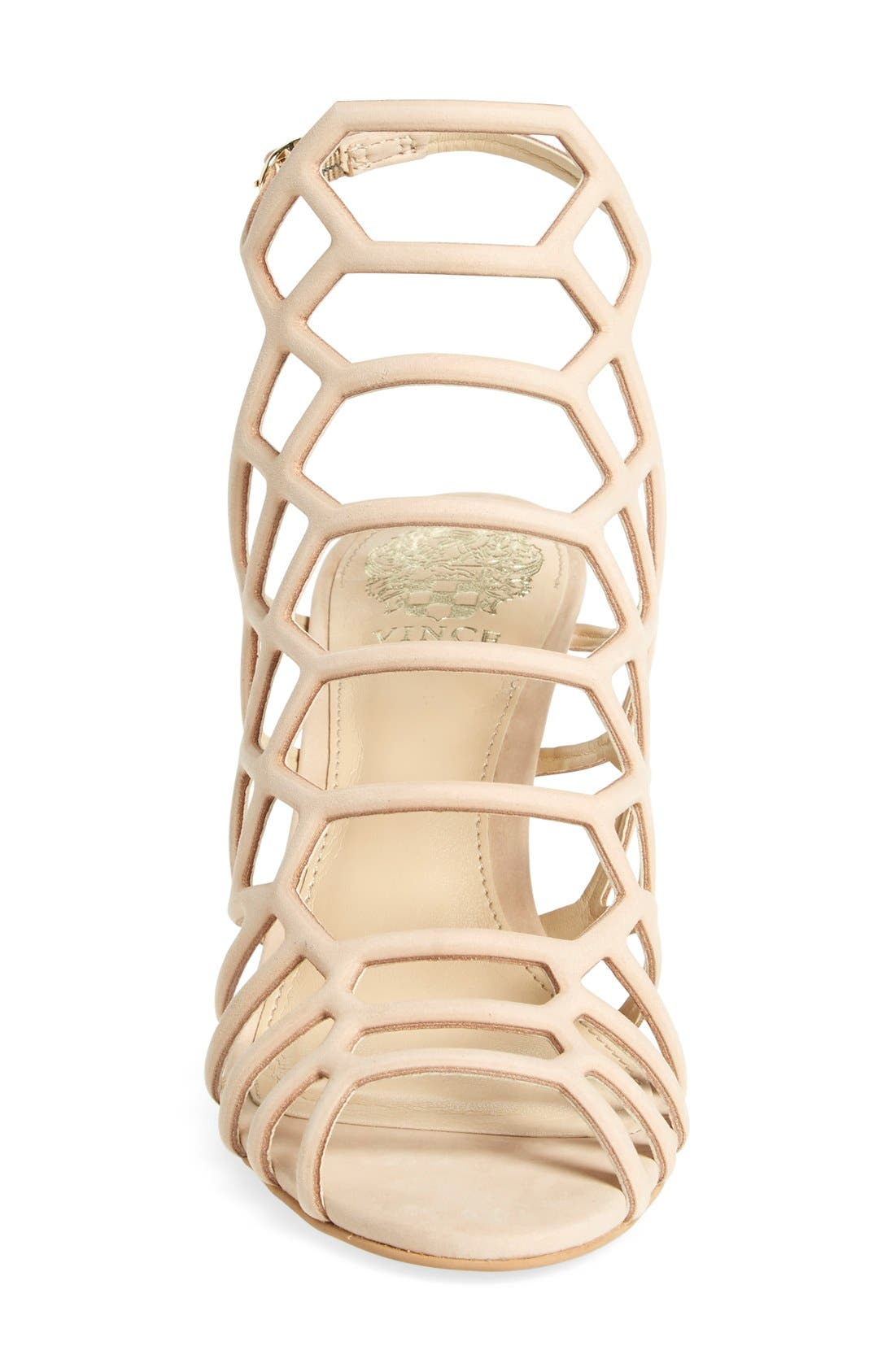 'Paxton' Slingback Sandal,                             Alternate thumbnail 3, color,                             Nude Leather