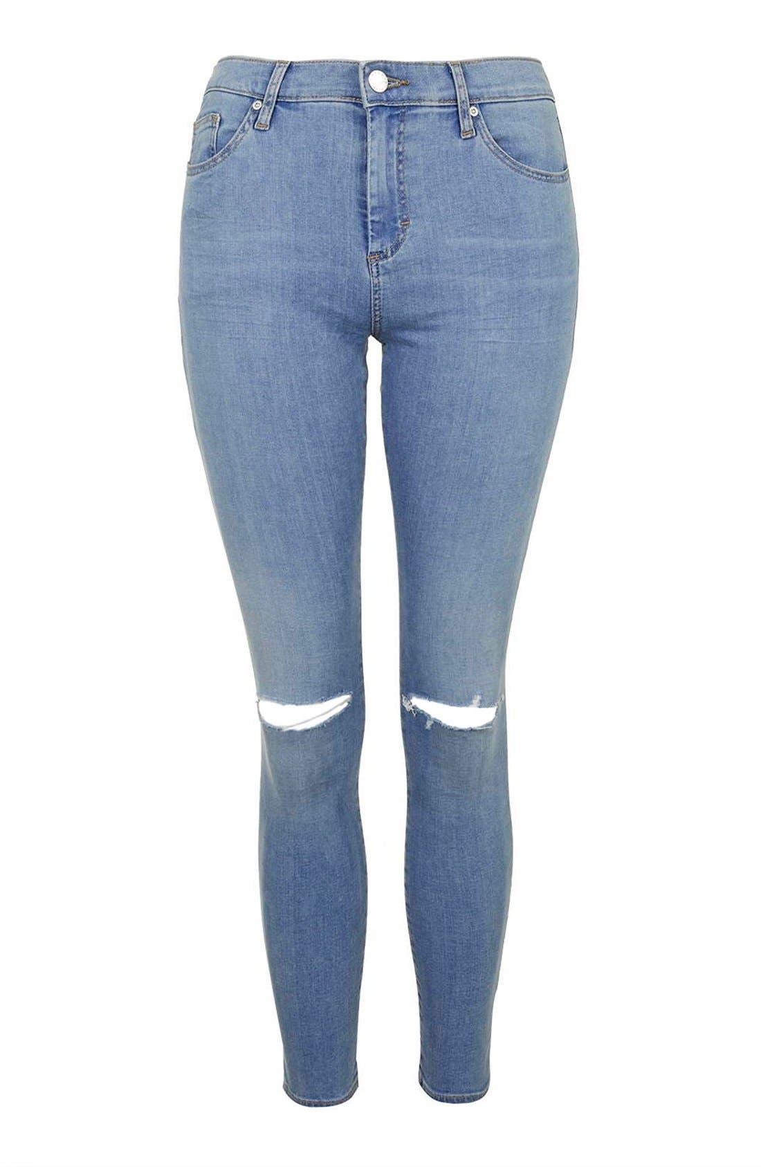 Alternate Image 4  - Topshop 'Leigh' Ankle Skinny Jeans (Petite)