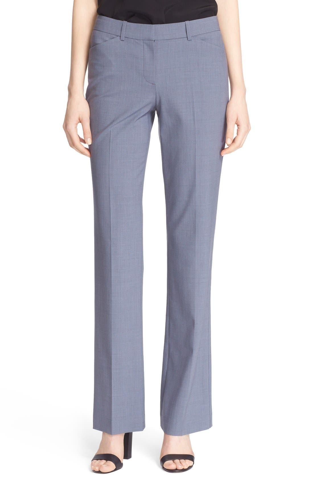 Custom Max Stretch Wool Pants,                             Main thumbnail 1, color,                             Denim Melange