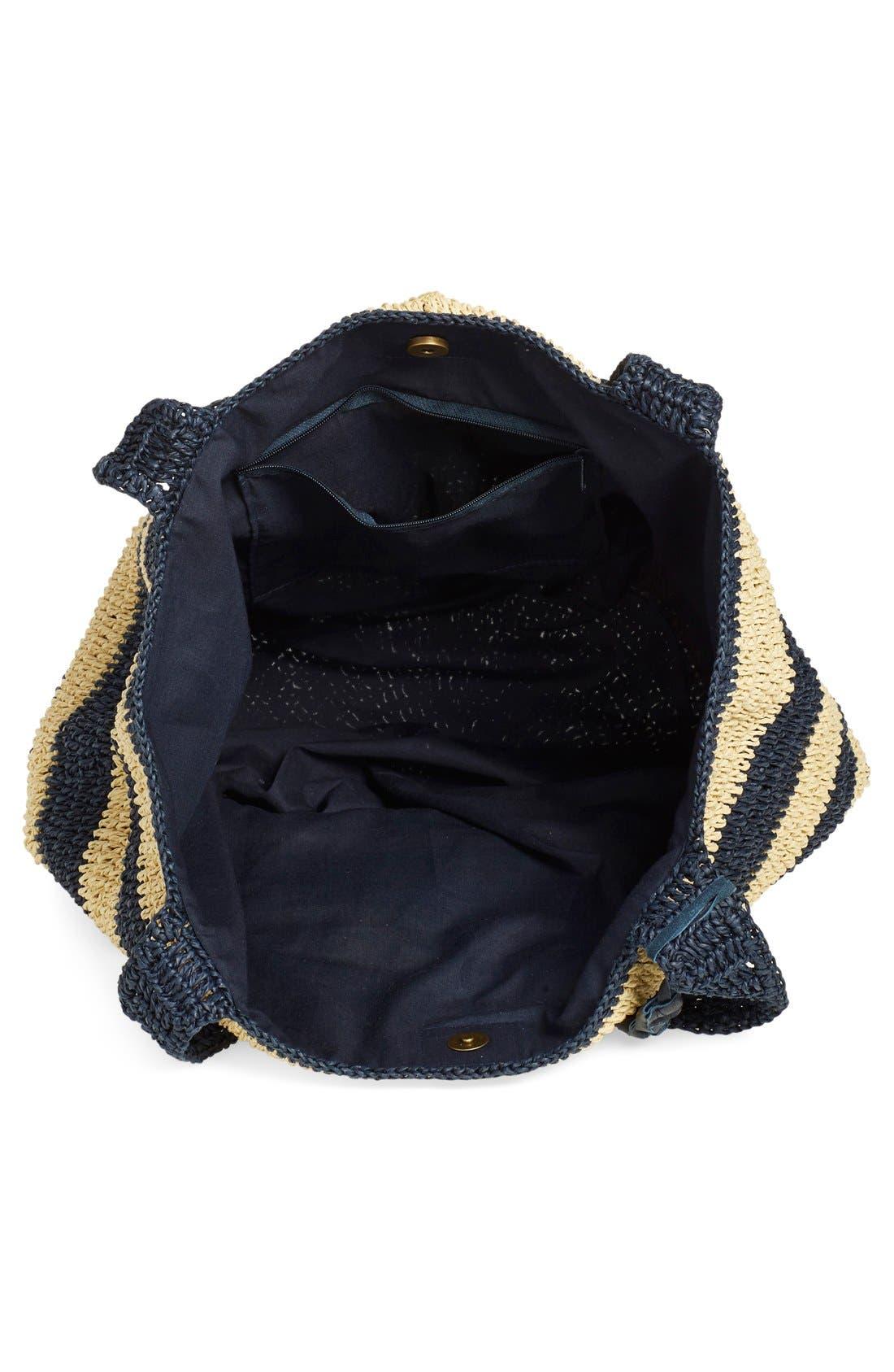 Alternate Image 4  - Caslon® Stripe Crochet Straw Shoulder Bag