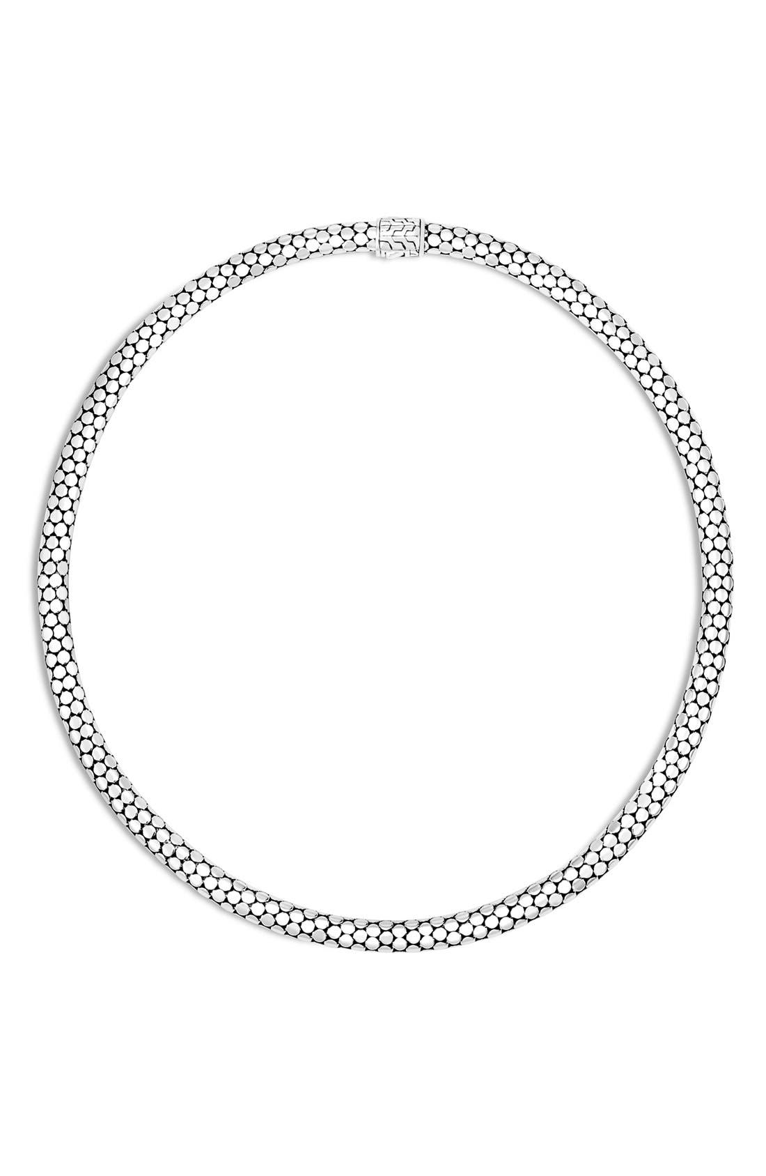 'Dot' Chain Necklace,                             Main thumbnail 1, color,                             Silver
