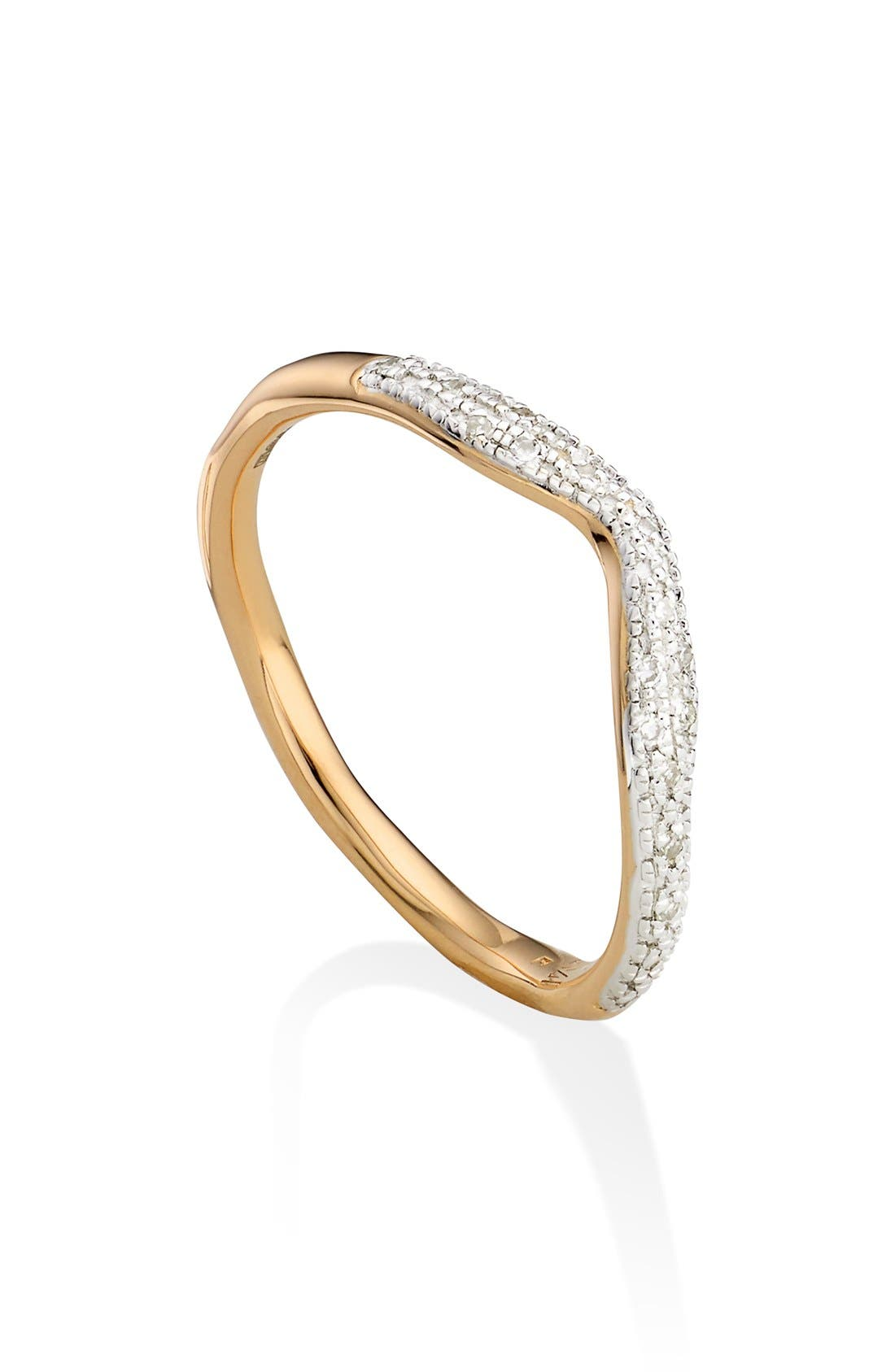 Alternate Image 1 Selected - Monica Vinader 'Riva' Diamond Stacking Ring