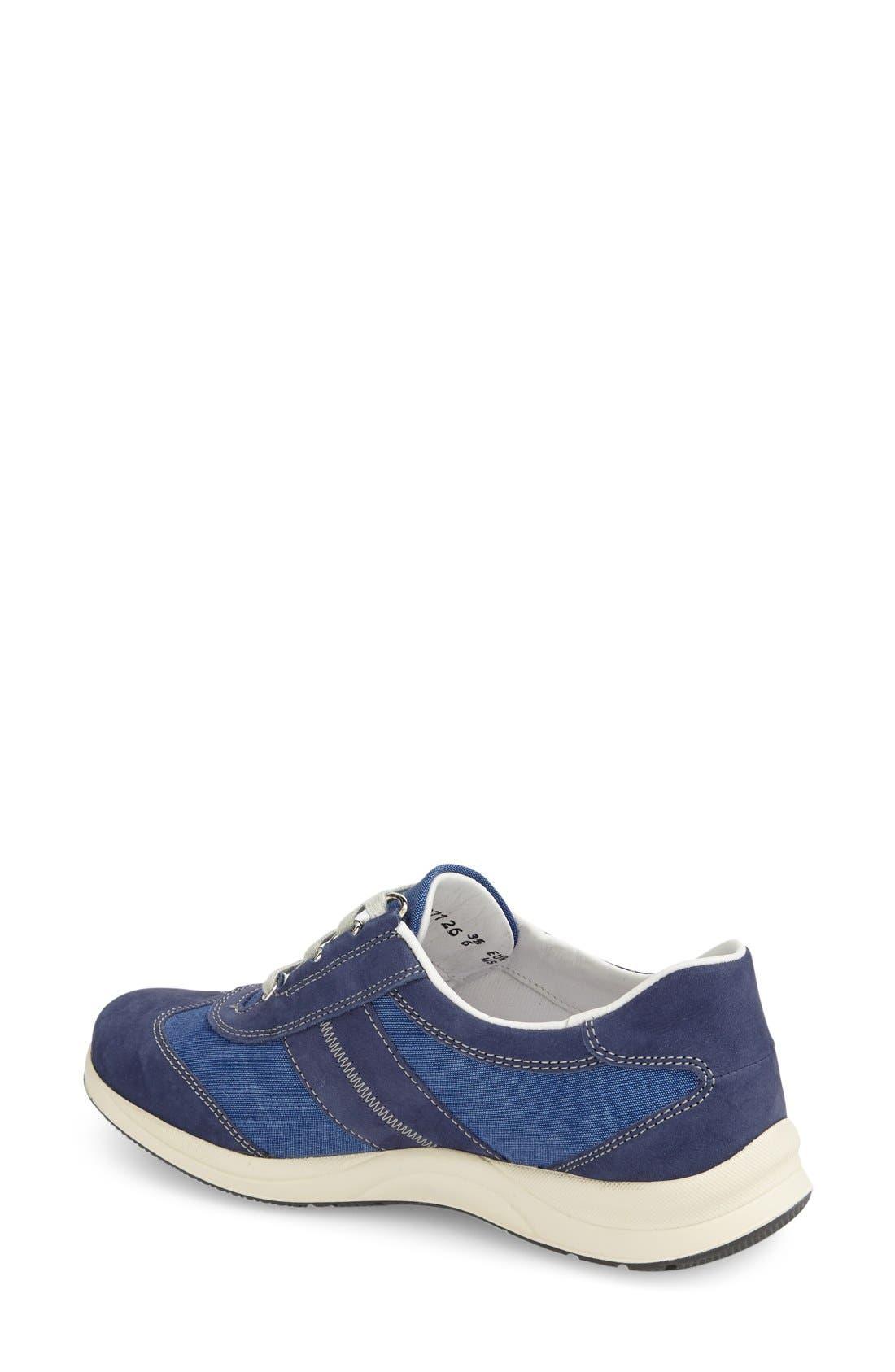 'Laser' Walking Shoe,                             Alternate thumbnail 2, color,                             Indigo Leather