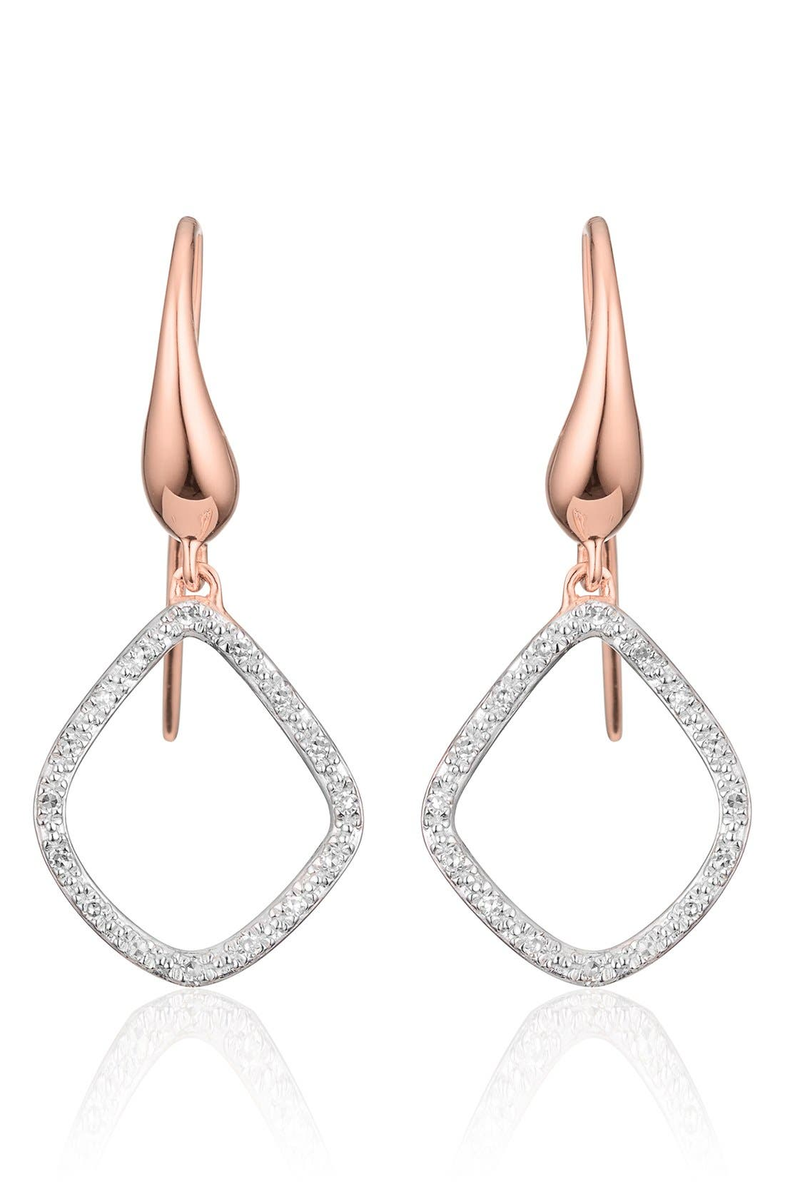 Monica Vinader 'Riva Kite' Diamond Drop Earrings