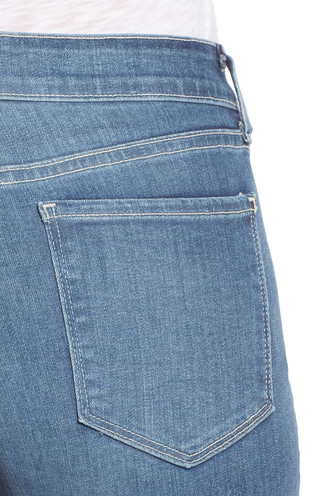 Alternate Image 4  - NYDJ 'Samantha' Stretch Slim Straight Leg Jeans (Heyburn) (Regular & Petite)