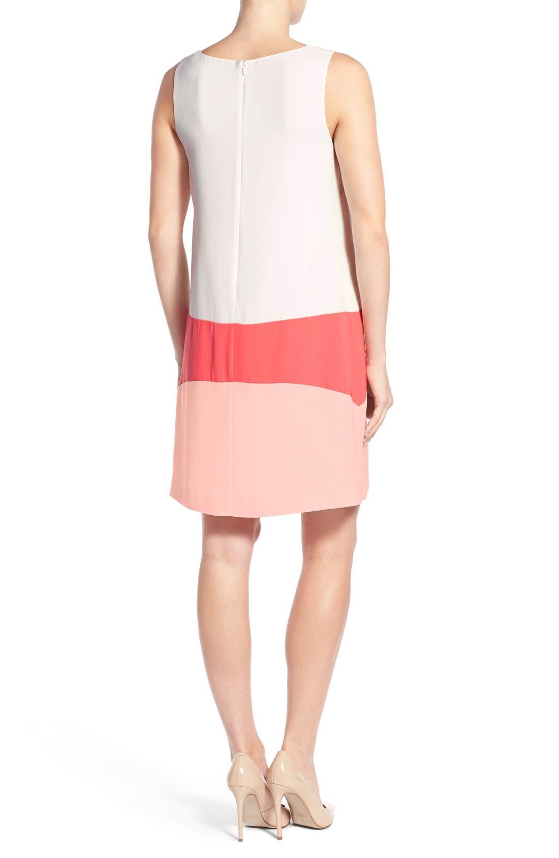 Alternate Image 2  - Halogen® Colorblock Shift Dress (Regular & Petite)