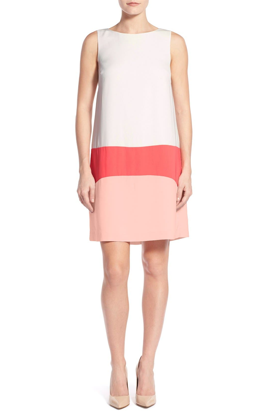 Alternate Image 1 Selected - Halogen® Colorblock Shift Dress (Regular & Petite)