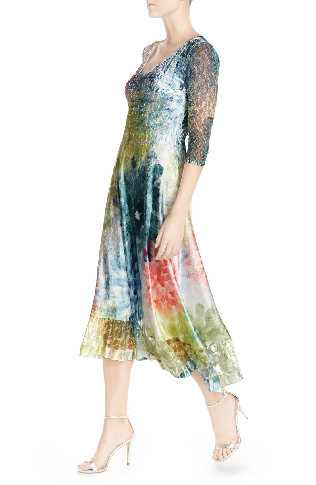 Alternate Image 4  - Komarov Mixed Media A-Line Dress (Regular & Petite)