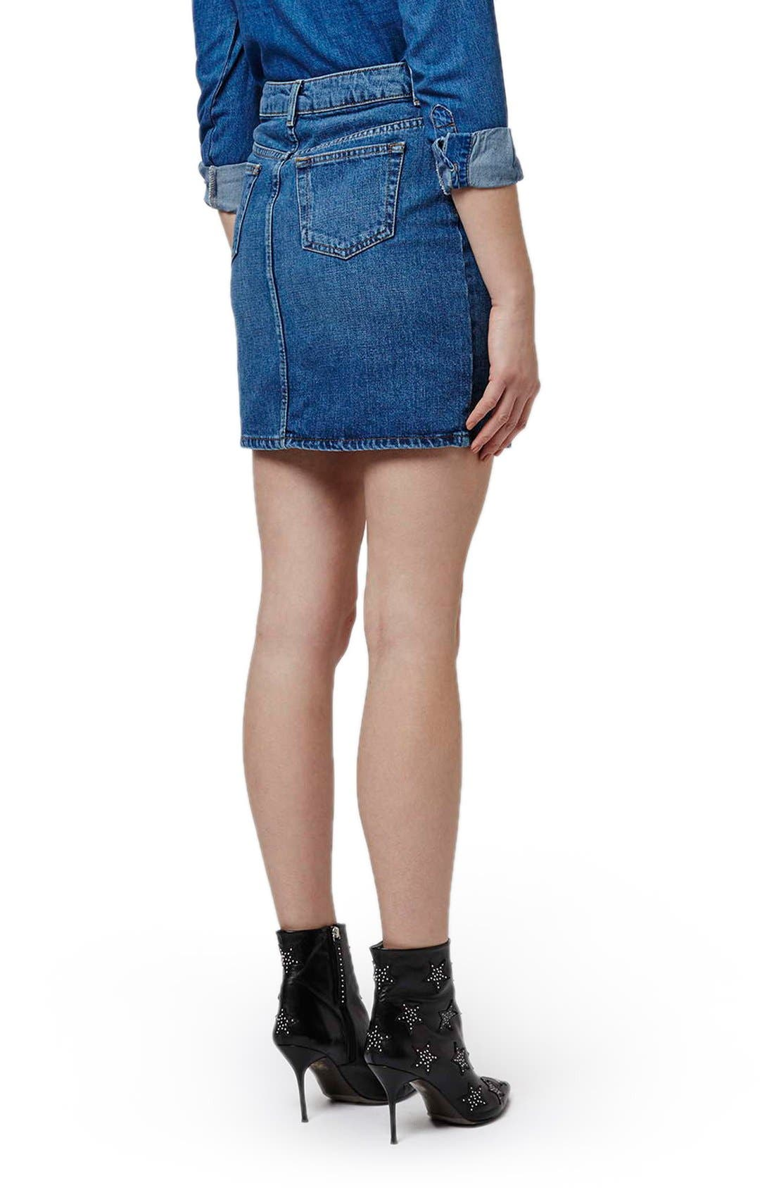 Alternate Image 3  - Topshop High Waist Denim Miniskirt