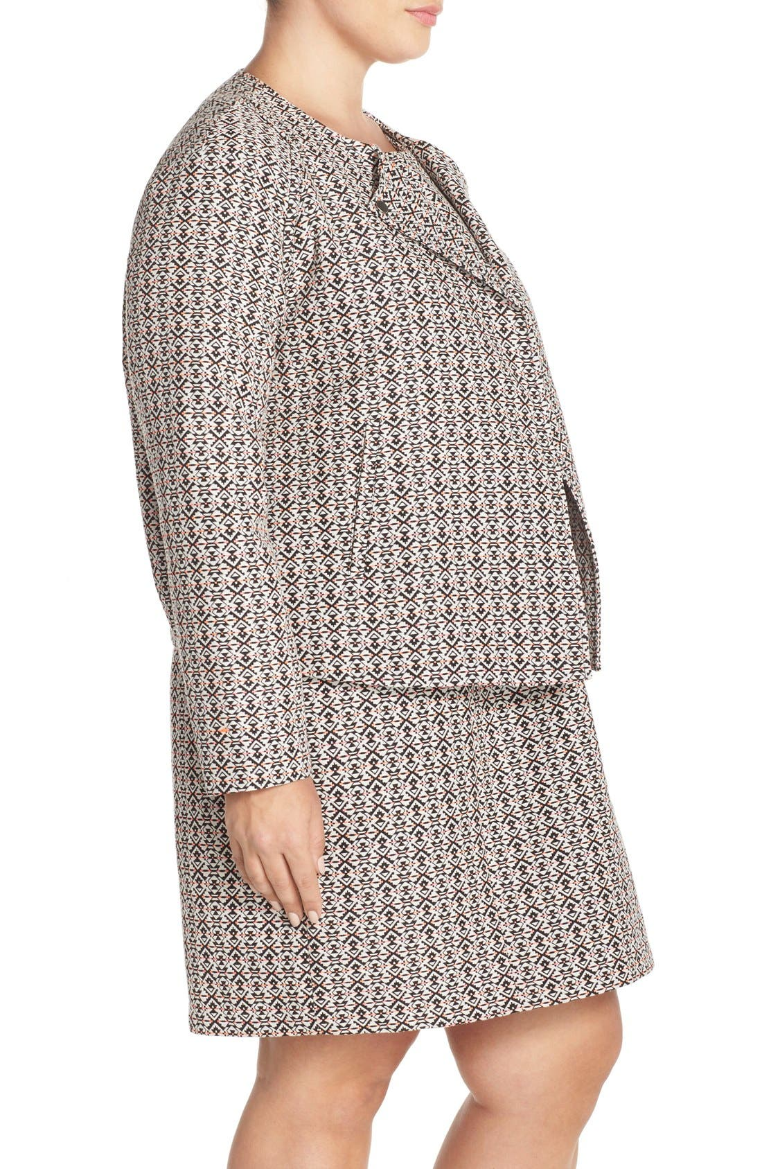 Alternate Image 2  - Tart 'Aviana' Print Collarless Jacket (Plus Size)