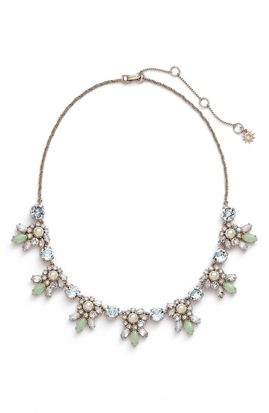 Main Image - Marchesa Crystal Cluster Bib Necklace