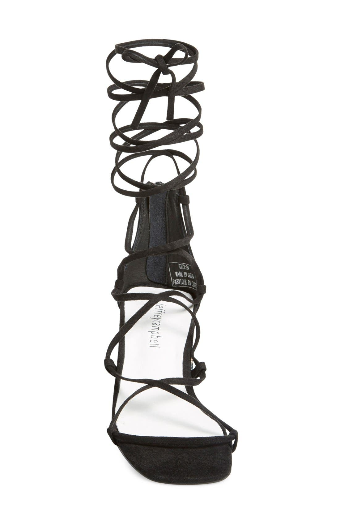 Alternate Image 3  - Jeffrey Campbell 'Gail' Lace-Up Embellished Block Heel Sandal (Women)