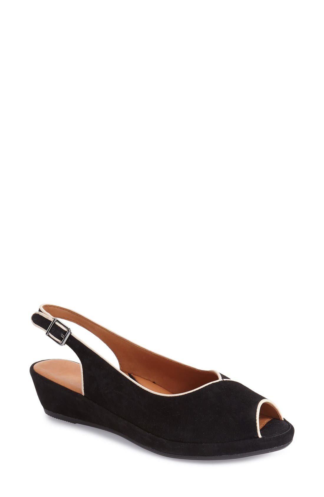 L'Amour des Pieds 'Breyer' Slingback Peep Toe Wedge (Women)
