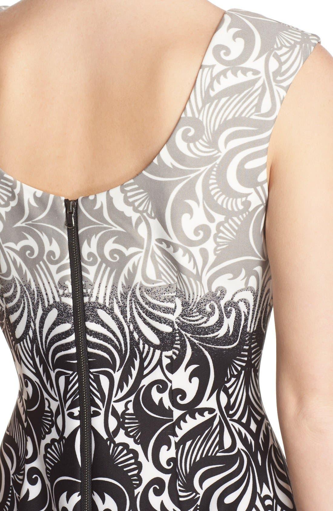 Alternate Image 4  - Gabby Skye Print Scuba Sheath Dress