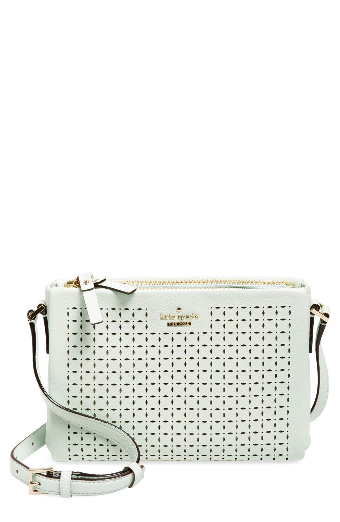 Alternate Image 1 Selected - kate spade new york 'milton lane - lilibeth' perforated leather crossbody bag (Nordstrom Exclusive)