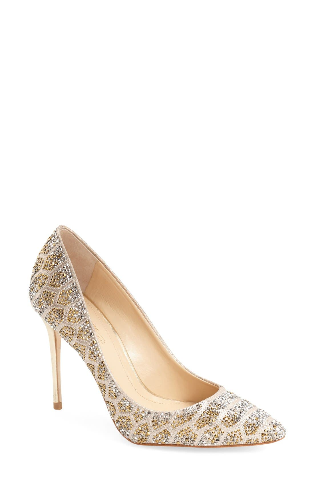 Imagine Vince Camuto 'Olivier' Pointy Toe Pump,                             Main thumbnail 1, color,                             Soft Gold