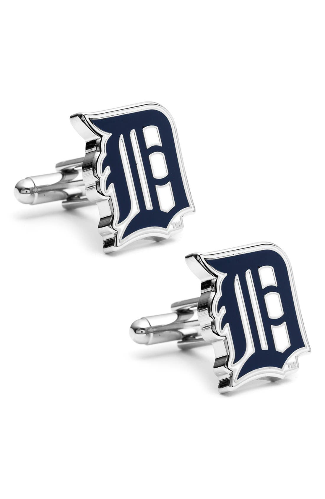 'Detroit Tigers' Cuff Links,                         Main,                         color, Blue