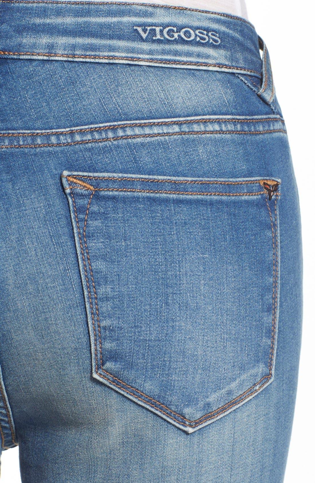 Alternate Image 4  - Vigoss Crop High Rise Jeans