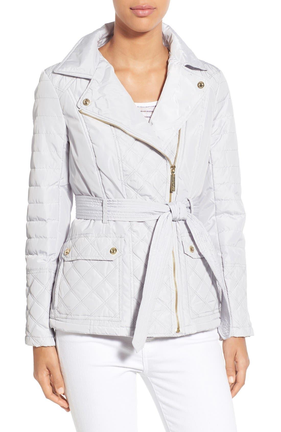 KENSIE Asymmetrical Quilted Jacket