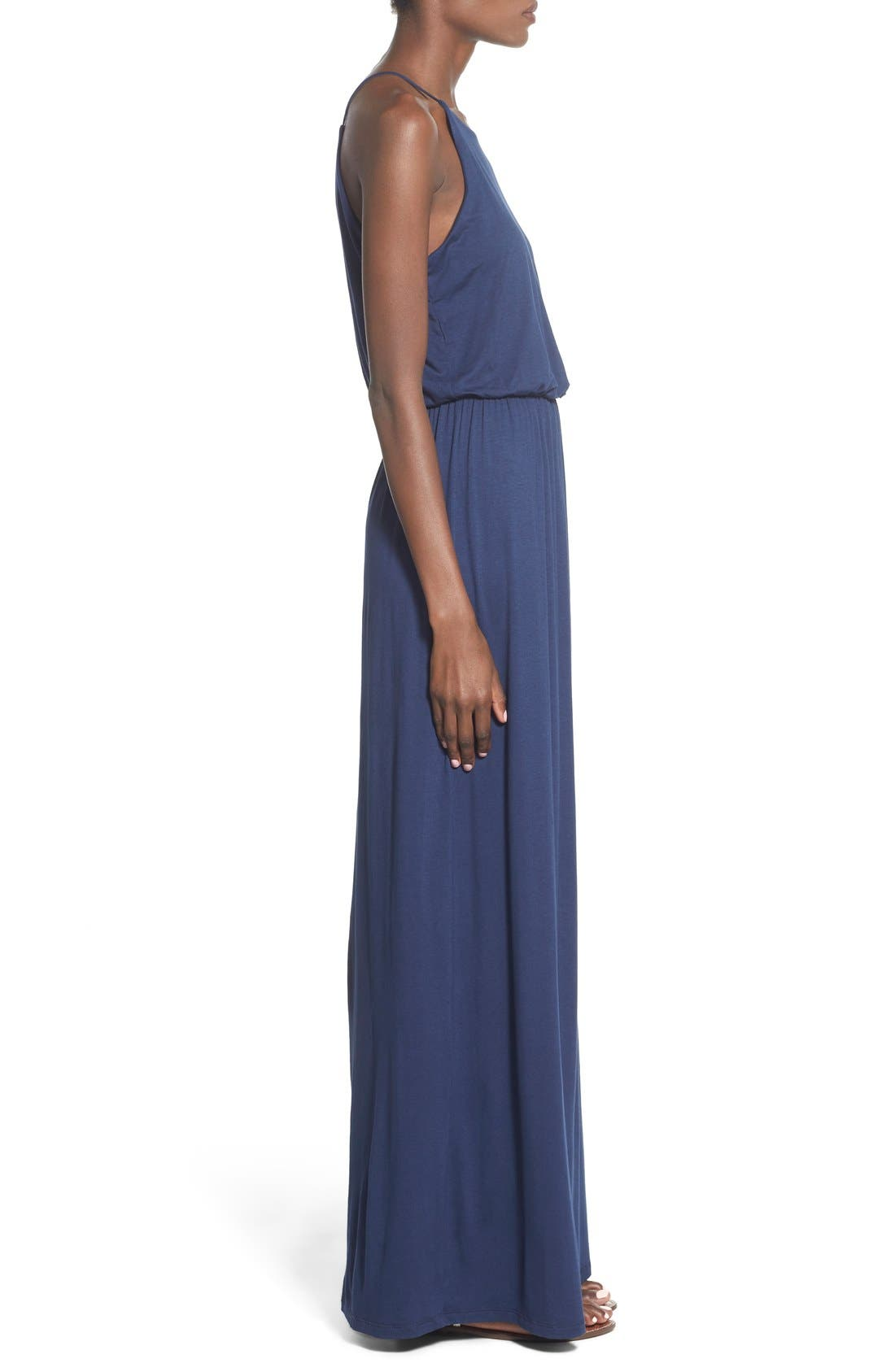 Alternate Image 4  - Lush High Neck Maxi Dress