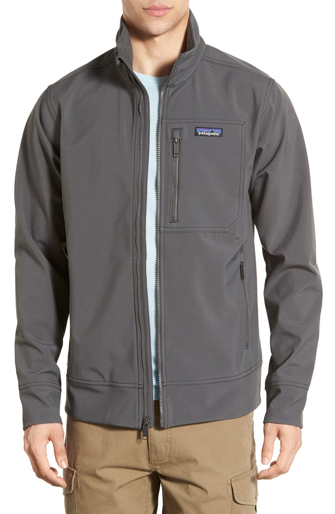 'Sidesend' Regular Fit Water Repellent Jacket,                         Main,                         color, Forge Grey