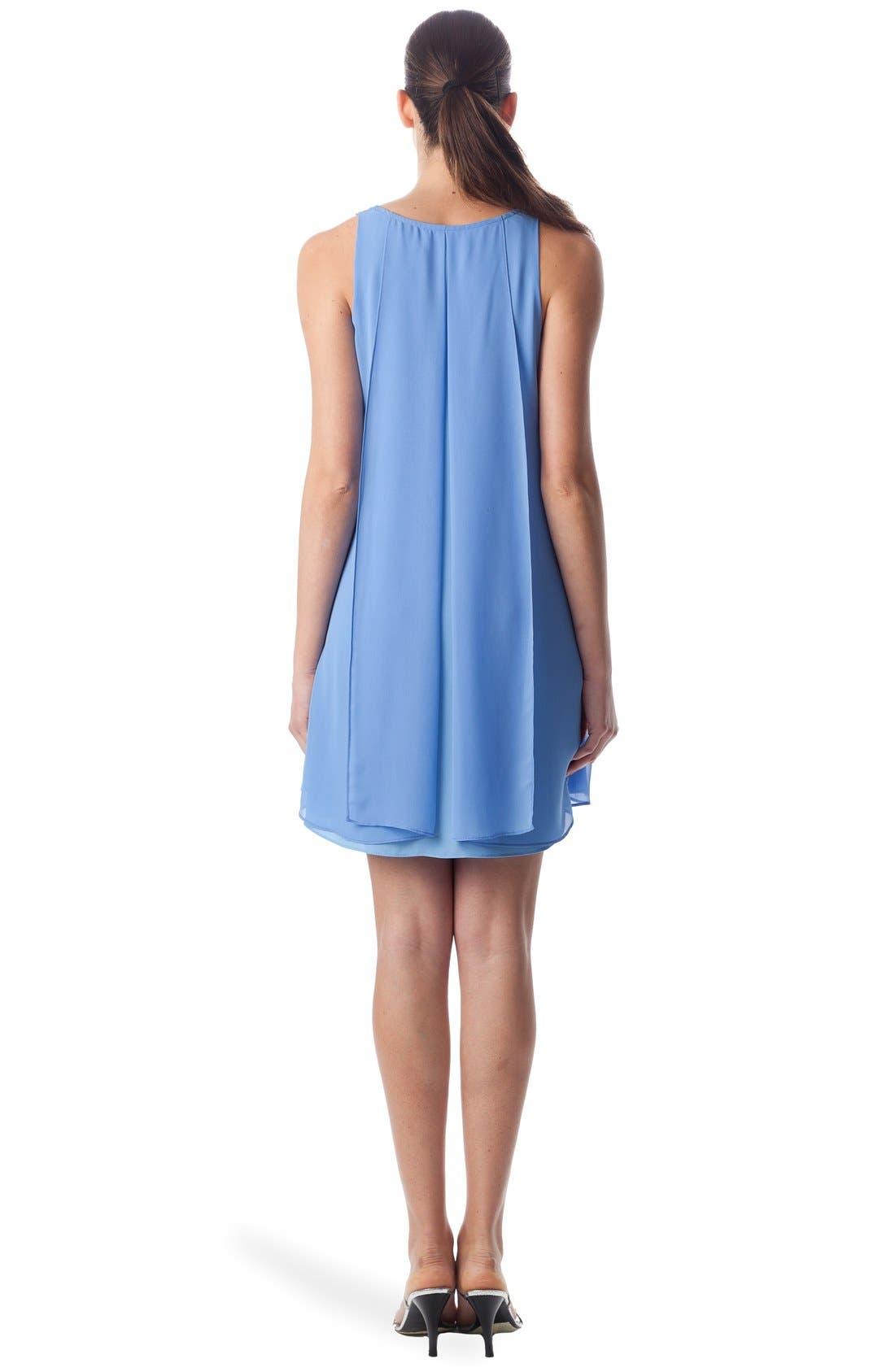 'Lago Di Como' High/Low Maternity Dress,                             Alternate thumbnail 2, color,                             Provence / Light Azure