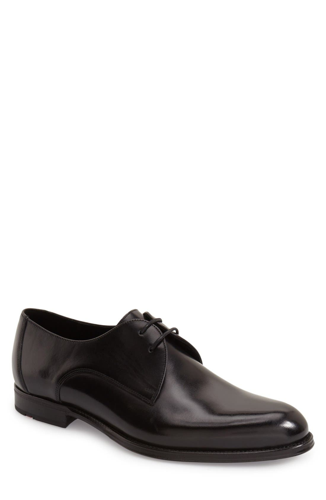 'Monza' Plain Toe Derby,                         Main,                         color, Black