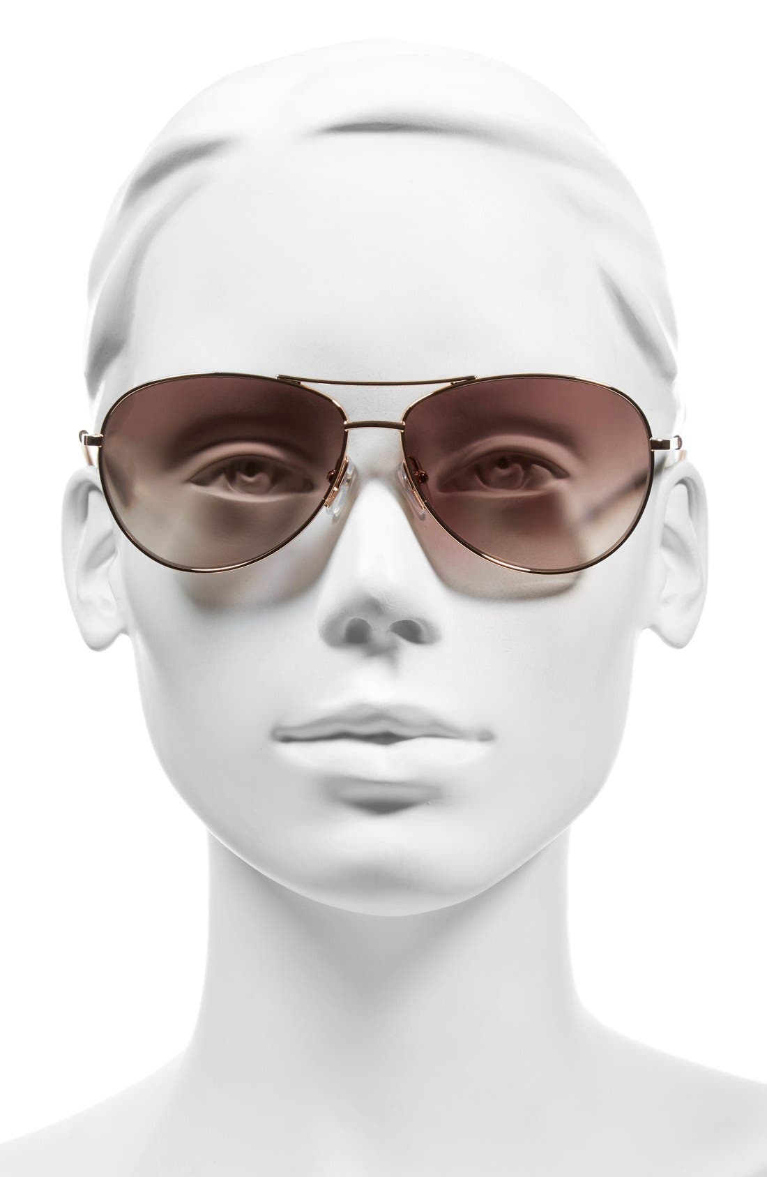 59mm Aviator Sunglasses,                             Alternate thumbnail 2, color,                             Gold Copper