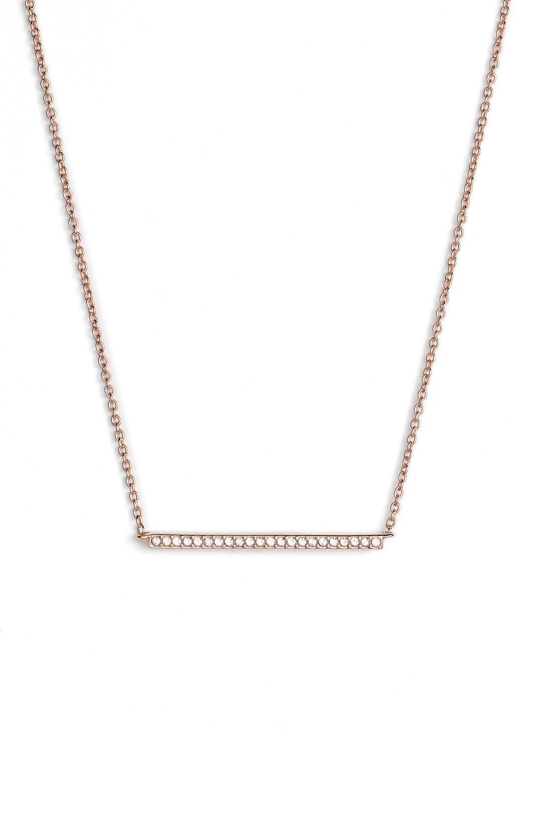 Bar Pendant Necklace,                         Main,                         color, Rose Gold