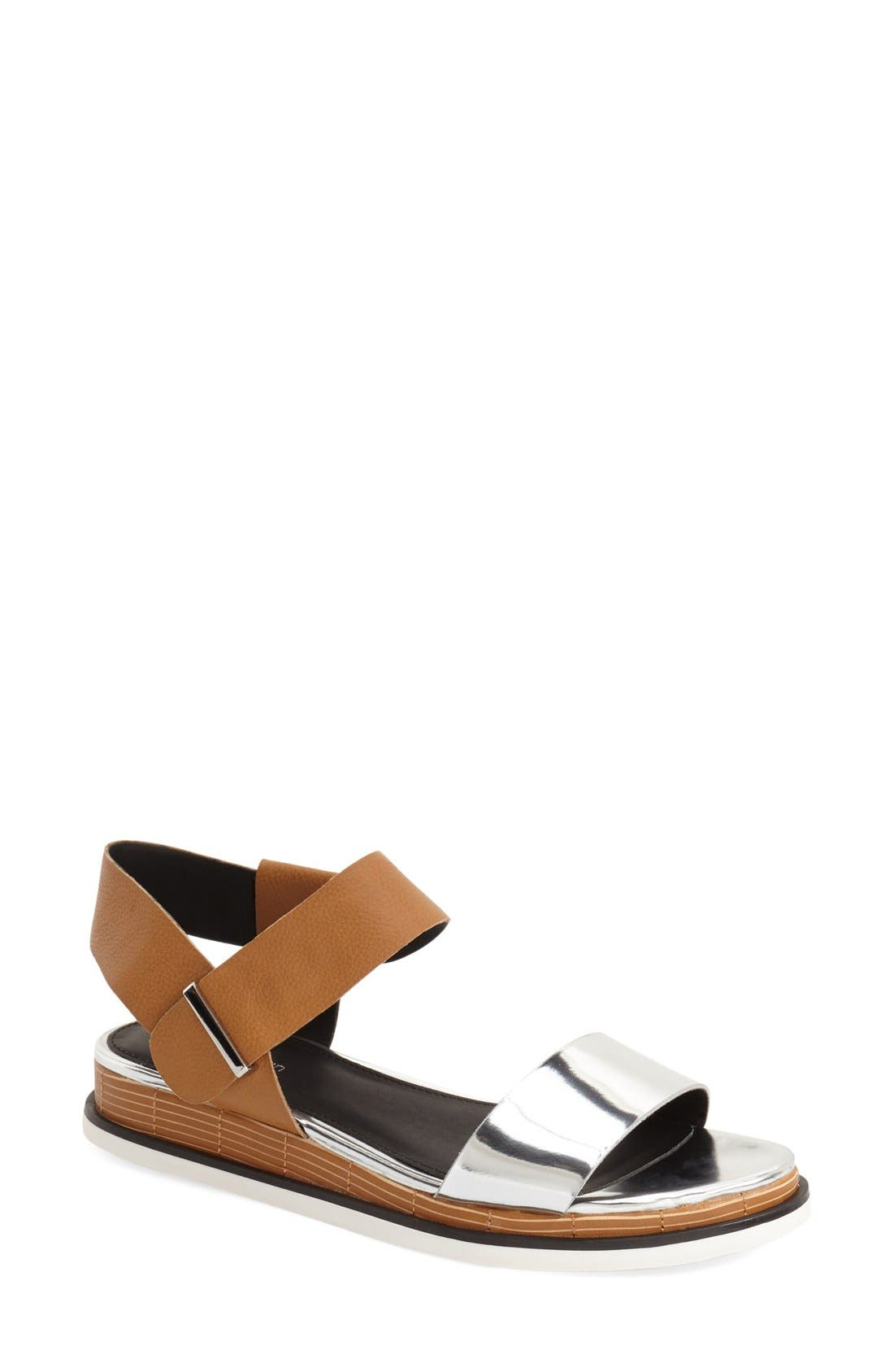 Alternate Image 1 Selected - Calvin Klein 'Cadan' Demi Wedge Sandal (Women)