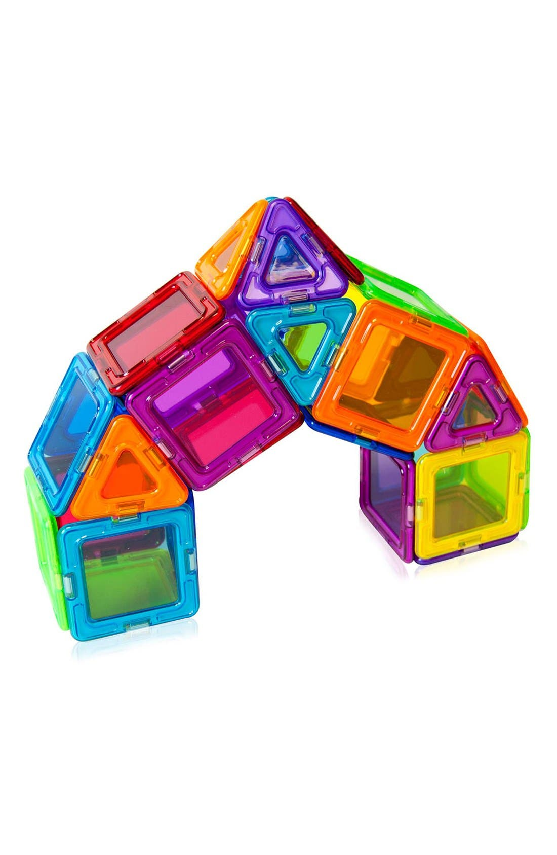 'Standard - Solids' Clear Magnetic 3D Construction Set,                             Alternate thumbnail 4, color,                             Rainbow