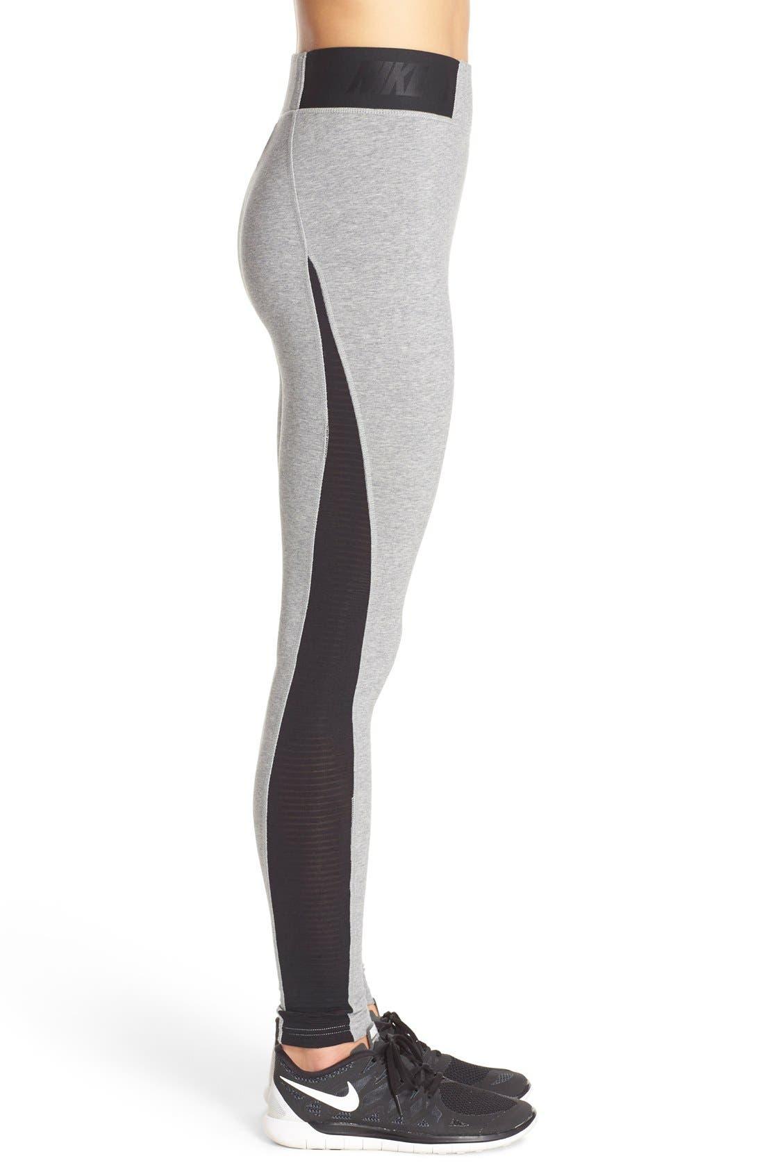 Alternate Image 3  - Nike 'Burnout' Mesh Inset Leggings