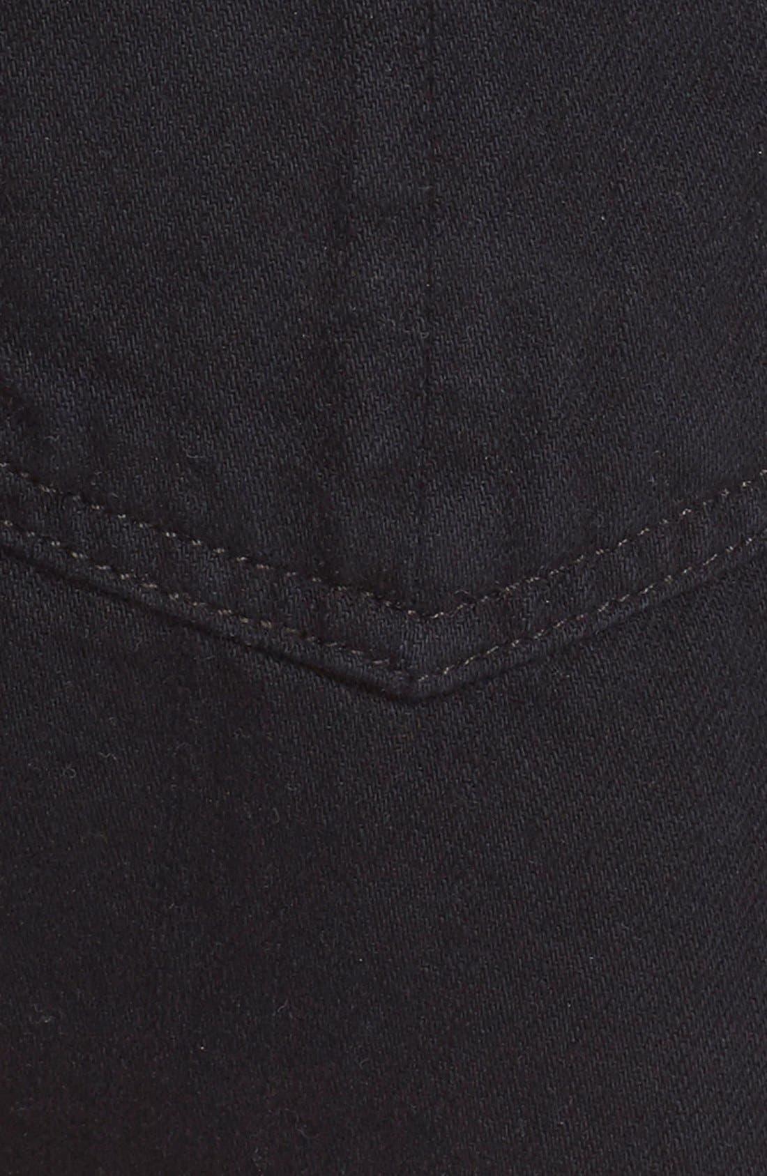 Cutoff Denim Shorts,                             Alternate thumbnail 5, color,                             Black Frpr